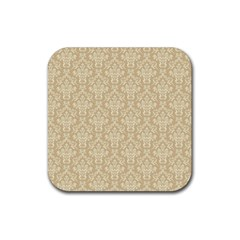 Damask 937607 960 720 Rubber Square Coaster (4 Pack)  by vintage2030