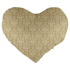 Damask 937607 960 720 Large 19  Premium Flano Heart Shape Cushions by vintage2030