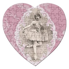 Lady 1112861 1280 Jigsaw Puzzle (heart) by vintage2030