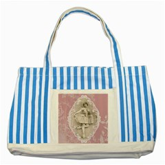 Lady 1112861 1280 Striped Blue Tote Bag by vintage2030