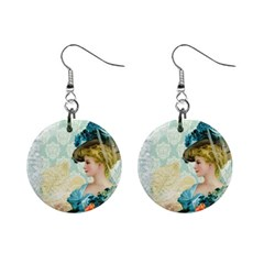 Lady 1112776 1920 Mini Button Earrings by vintage2030