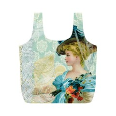 Lady 1112776 1920 Full Print Recycle Bag (m) by vintage2030