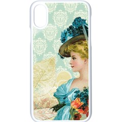 Lady 1112776 1920 Apple Iphone X Seamless Case (white) by vintage2030