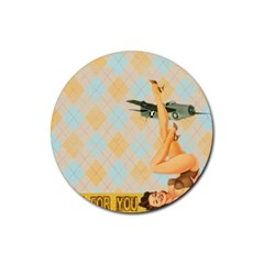 Retro 1107644 1920 Rubber Coaster (round)  by vintage2030