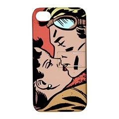 Retrocouplekissing Apple Iphone 4/4s Hardshell Case With Stand