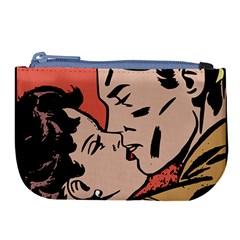 Retrocouplekissing Large Coin Purse