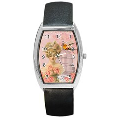 Woman 1079479 1920 Barrel Style Metal Watch by vintage2030