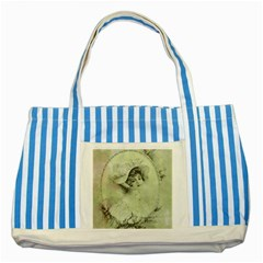 Woman 1079507 1920 Striped Blue Tote Bag by vintage2030
