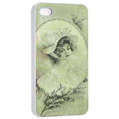 Woman 1079507 1920 Apple Iphone 4/4s Seamless Case (white) by vintage2030