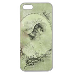 Woman 1079507 1920 Apple Seamless Iphone 5 Case (clear)