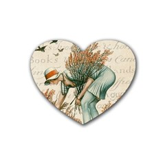 Flapper 1079515 1920 Rubber Coaster (heart)  by vintage2030