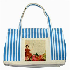 Girl 976108 1280 Striped Blue Tote Bag by vintage2030