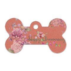 Flower 979466 1280 Dog Tag Bone (one Side) by vintage2030