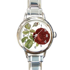 Rose 1077964 1280 Round Italian Charm Watch by vintage2030