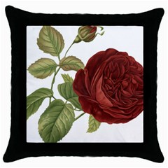 Rose 1077964 1280 Throw Pillow Case (black) by vintage2030