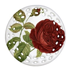Rose 1077964 1280 Ornament (round Filigree) by vintage2030