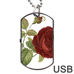 Rose 1077964 1280 Dog Tag Usb Flash (two Sides) by vintage2030