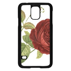 Rose 1077964 1280 Samsung Galaxy S5 Case (black) by vintage2030
