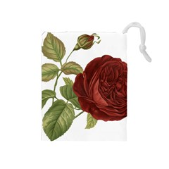 Rose 1077964 1280 Drawstring Pouch (medium) by vintage2030