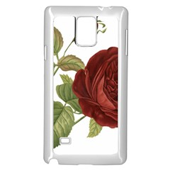 Rose 1077964 1280 Samsung Galaxy Note 4 Case (white) by vintage2030