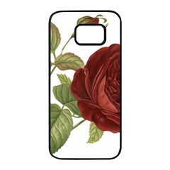 Rose 1077964 1280 Samsung Galaxy S7 Edge Black Seamless Case by vintage2030