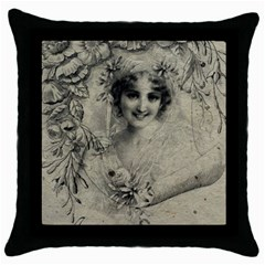 Vintage 1079414 1920 Throw Pillow Case (black) by vintage2030