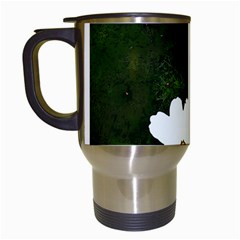 Daisies In Green Travel Mugs (white)