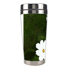 Daisies In Green Stainless Steel Travel Tumblers by DeneWestUK