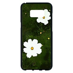 Daisies In Green Samsung Galaxy S8 Plus Black Seamless Case