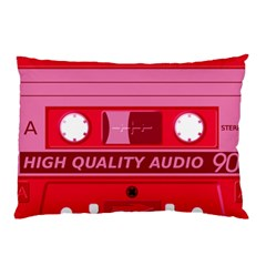 Red Cassette Pillow Case