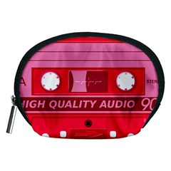 Red Cassette Accessory Pouch (medium) by vintage2030