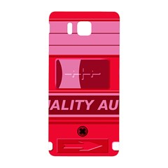 Red Cassette Samsung Galaxy Alpha Hardshell Back Case by vintage2030