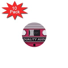 Pink Cassette 1  Mini Buttons (10 Pack)  by vintage2030