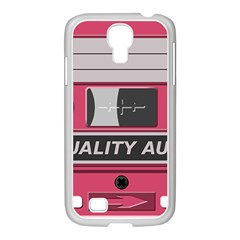 Pink Cassette Samsung Galaxy S4 I9500/ I9505 Case (white) by vintage2030
