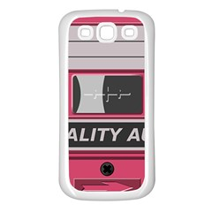 Pink Cassette Samsung Galaxy S3 Back Case (white) by vintage2030