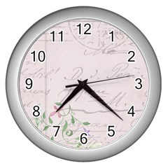 Background 1071141 1920 Wall Clock (silver) by vintage2030