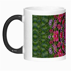 Fantasy Floral Wreath In The Green Summer  Leaves Morph Mugs