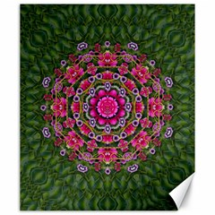 Fantasy Floral Wreath In The Green Summer  Leaves Canvas 20  X 24