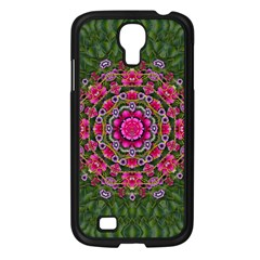 Fantasy Floral Wreath In The Green Summer  Leaves Samsung Galaxy S4 I9500/ I9505 Case (black) by pepitasart