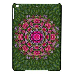 Fantasy Floral Wreath In The Green Summer  Leaves Ipad Air Hardshell Cases by pepitasart
