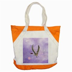 Cute Little Pegasus With Butterflies Accent Tote Bag