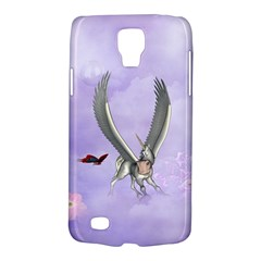 Cute Little Pegasus With Butterflies Samsung Galaxy S4 Active (i9295) Hardshell Case by FantasyWorld7