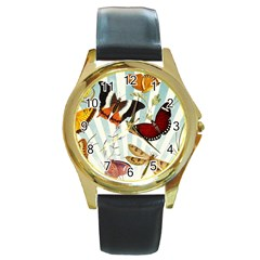 Butterfly 1064147 1920 Round Gold Metal Watch by vintage2030