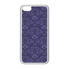 Damask Purple Apple Iphone 5c Seamless Case (white)