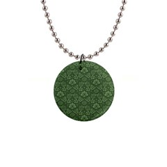Damask Green Button Necklaces by vintage2030
