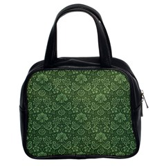 Damask Green Classic Handbag (two Sides) by vintage2030