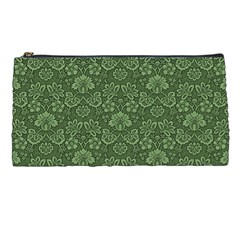 Damask Green Pencil Cases by vintage2030