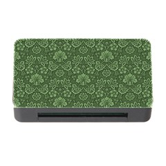Damask Green Memory Card Reader With Cf by vintage2030