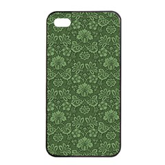 Damask Green Apple Iphone 4/4s Seamless Case (black) by vintage2030