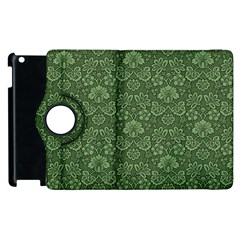 Damask Green Apple Ipad 2 Flip 360 Case by vintage2030